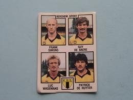 BERCHEM SPORT K.B.S. ( Simons / De Baere / Wagemans / De Ruyter ) > FOOTBALL 85 ( Nr. 351 ) - Figurine PANINI ! - Trading-Karten