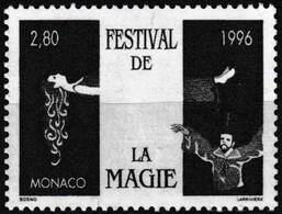 Timbre-poste Gommé Neuf** - 12e Festival De La Magie Magicien Femme En Lévitation - N° 2027 (Yvert) - Monaco 1996 - Monaco