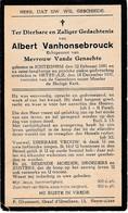 Ichtegem, Heyst-aan-zee, 1931, Albert Vanhonsebrouck, Van Genachte - Images Religieuses
