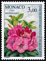 Timbre-poste Gommé Neuf** - 20e Concours International De Bouquets Rhododendron - N° 2028 (Yvert) - Monaco 1996 - Ungebraucht