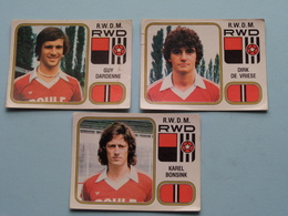 R.W.D.M. RWD ( Karel BONSINK - Guy DARDENNE - Dirk DE VRIESE ) > FOOTBALL 81 ( Nr. 250 - 248 - 242 ) - Figurine PANINI ! - Trading Cards