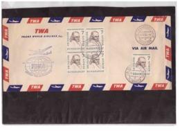 847  /   FRANKFURT A/M  26.10.1958   /  ERSTFLUG UEBER DIE POLARROUTE - TWA  CALIFORNIEN/DEUTSCHLAND - Aerei