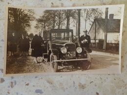 Lot 3 Photos Voitures Anciennes Vers 1930 Marque à Déterminer 11 X 6.5 Cm - Automobile