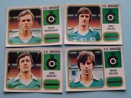 C.S. BRUGGE ( BEHEYDT - KRIJGH - BROECKAERT - DELESIE  ) > FOOTBALL 81 ( Nr. 145 - 140 - 137 - 142 ) - Figurine PANINI ! - Trading Cards