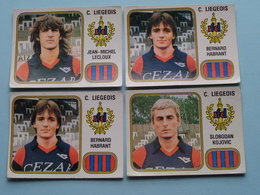 C. LIEGEOIS ( HABRANT(2x) - LECLOUX - KOJOVIC ) > FOOTBALL 81 ( Nr. 192 (2x) - 199 - 200 ) - Figurine PANINI ! - Trading Cards