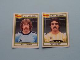 K.V. MECHELEN ( Filip BENOOT & Theo CUSTERS ) > FOOTBALL 84 ( Nrs. 235 - 221 ) - Figurine PANINI ! - Trading-Karten