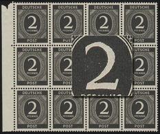 912II 2 Pf. Mit PLF Retusche Der Wertziffer, ** - Zone AAS
