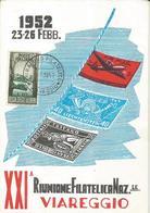 XXI RIUNIONE FILATELICA NAZIONALE DI VIAREGGIO 1952-FG - Borse E Saloni Del Collezionismo