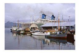 AUSTRALIS Chandris Line Ship At Suva, Fiji 1969  6x4... Modern Digital Photo Postcard - Piroscafi