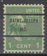 USA Precancel Vorausentwertung Preo, Bureau Missouri, Saint Joseph 804-71 - Vereinigte Staaten
