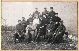 Mi138 Cpaww1 Guerre 1914-18 ALSACE Carte-Photo Officiers Hopital Croix-Rouge 154e Et 51e Régiment  Ernest VIDAL ? - Guerre 1914-18