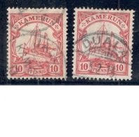 GERMAN COLONIES.....CAMEROUN1906/12: Michel 22a,b  Used Cat.Value $11(10Euros) - Kolonie: Kamerun