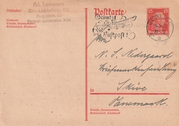 """Deutsches Reich / 1926 / Postkarte Mi. P 171 """"Immanuel Kant"""", Masch.-Stempel Berlin """"Luftpost"""", Nach Daenemark (4022) - Deutschland"""