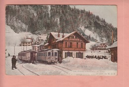 OUDE FOTO POSTKAART -  ZWITSERLAND - SCHWEIZ - SUISSE - TREIN -  STATION - LES AVANTS - VD Vaud