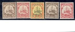 GERMAN COLONIES.....SAMOA1900-1915: Michel 7,9,11,20,22 - Colonie: Samoa