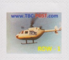 Belgique 2013 (?). Poste Privée TBO. Hélicoptère. Tarif Pour Lettre Hors D'Europe (Rest Of World) - Hubschrauber