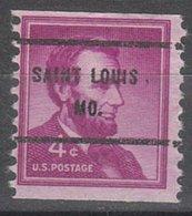 USA Precancel Vorausentwertung Preo, Bureau Missouri, Saint Louis 1058-61 - Vereinigte Staaten
