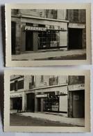 2 Photographie Ancienne Pharmacie Bléher Magasin Peinture Pierre Et Marcel Le Martelot Vannes ? Lieu à Confirmer - Lieux