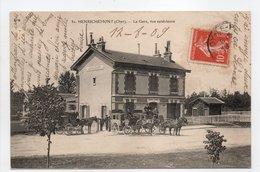 - CPA HENRICHEMONT (18) - La Gare, Vue Extérieure 1909 (avec Attelages) - Edition E. M. N° 31 - - Henrichemont