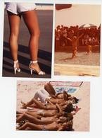 LOT DE 3 PHOTOS 9.5 X 14 CM PIN UP STARLETTES EROTIQUE FESTIVAL DE CANNES TOUTES SCANNEES - Pin-up