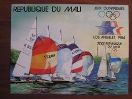 Mali 1984 MNH BL 24 Imperf Hard Paper - Verano 1984: Los Angeles