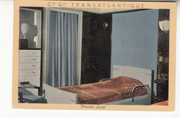Paquebot Normandie - Compagnie Générale Transatlantique - French Line - Chambre Rouen - Piroscafi