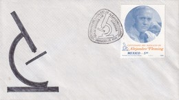 Mexico 1981  Cover:  Alexandre Fleming; Medicine Health; Physics; Biology; Microscope: Nobel Prize 1945 - Physik