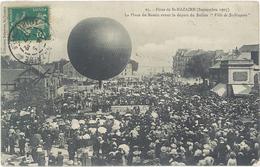 """Fetes De SAINT NAZAIRE (Septembre 1907) La Place Du Bassin Avant Le Départ Du Ballon """"Ville De St Nazaire"""" (2040 ASO) - Saint Nazaire"""