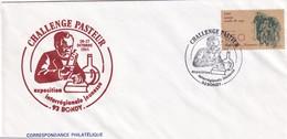 France 1985 Cover:  Medicine Health Louis Pasteur Pasteur Challange; Chemistry; Biology; Rabies Vaccine - Medizin