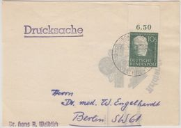 BRD - 10 Pfg. Wofa (Oberrand), Drucksache >50g/Vds Ingenheim - Berlin 1951 - Briefe U. Dokumente
