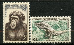 Afrique Occidentale Française, Yvert 51&52**, Scott 62&63**, MNH - Ongebruikt