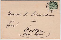 DR - 3 Pfg. Drucksache (Braunkohlezeche)  K1 Frielendorf - Borken 1887 - Briefe U. Dokumente