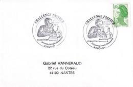 France 1985 Cover:  Medicine Health Louis Pasteur Pasteur Challange; Chemistry; Biology; Bondy Cancellation - Medizin