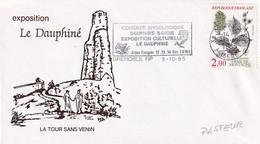 France 1985 Cover: Mushrooms; Pilze Fungi: Congress Mycologique Grenoble: Dolphins; Plants TreesUlmus Montana - Pilze