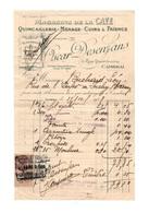 FactureMagasins De La Cave Quincaillerie - Ménage - Cuirs & Faience Oscar Desenfans à Cambrai En 1928 - Frankrijk