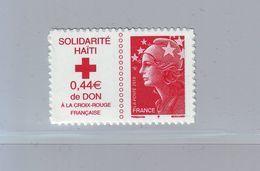 FRANCE 2010 - Autoadhésif  Y&T N° 388 - Solidarité Haïti  - Neuf ** - Sellos Autoadhesivos