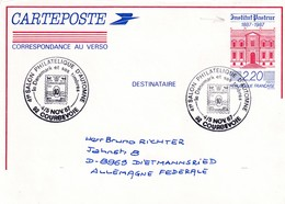 France 1987 Postal Stationery Card: Medicine Health Louis Pasteur Institute Building 100 Years - Medizin