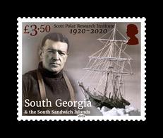 South Georgia 2019 Centenary Of The Scott Polar Research Institute Ship 1v MNH - Zuid-Georgia