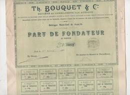 Auch (32 Gers) Part De, Fondateur IMPRIMERIE TH BOUQUET 1909 (PPP11531) - Shareholdings