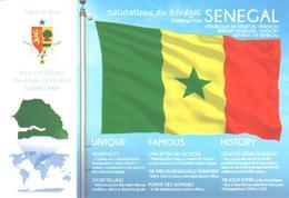POSTAL   BANDERA DE SENEGAL - Otras Colecciones