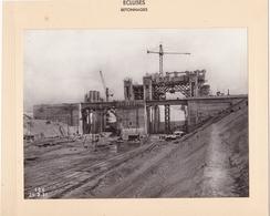 Haut-rhin : KEMBS : Construction Du Barrage Et écluse : écluses Betonnages - Construction Superstructures - 1928 1932 - - Lieux