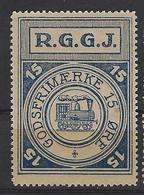 Denmark Local Railway Parcel Post,R.G.G.J. 15 Oere.Trains/Railways/Eisenbahnmarken - Trains