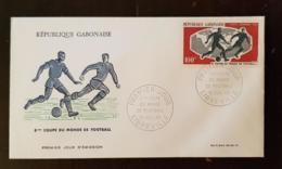 GABON Football, Coupe Du Monde LONDRES 1966. Yvert Yvert PA 47, FDC, Enveloppe 1er Jour - Coupe Du Monde