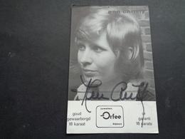 Artiste ( 612 )  Artiest Zangeres  Zanger ( Geen Postkaart ) Dédicasse Signature Handtekening : Ann Christy - Chanteurs & Musiciens