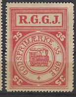 Denmark Local Railway Parcel Post,R.G.G.J. 35 Oere.Trains/Railways/Eisenbahnmarken - Trains