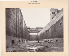 Haut-rhin : KEMBS : Construction Du Barrage Et écluse : écluses Avant La Mise En Eau - Grand Sas - 1928 1932 - - Places