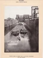 Haut-rhin : KEMBS : Construction Du Barrage Et écluse : écluses Après Mise En Service  - Péniches - Barques : 1928 1932 - Bateaux