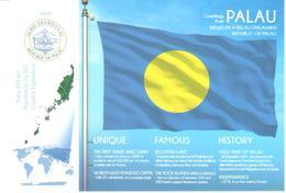 POSTAL   BANDERA DE PALAU -REPUBLIC OF PALAU-OCEANO PACIFICO - Otras Colecciones