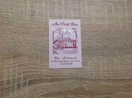 Ancienne Carte De Visite De Bar Restaurant  Au Petit Bar   Paris 13eme - Cartoncini Da Visita