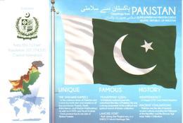 POSTAL   BANDERA DE PAKISTAN - Otras Colecciones